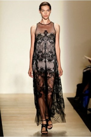 black lace BCBG dress - black heels BCBG heels