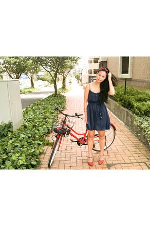 vintage heels - Zara dress - Forever 21 accessories - red rose vintage ring