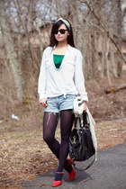 vintage Miu Miu top - vintage shoes - vintage dior scarf
