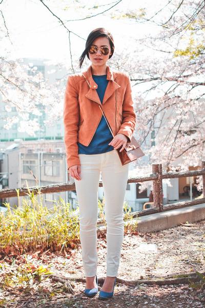 H&M jacket - H&M shoes - gu jeans - vintage christian dior bag