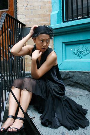 black scarf - black foley & corinna - black Unocosa skirt - black Cynthia Vincen