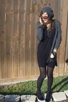 dress - sweater - tights - hat - accessories