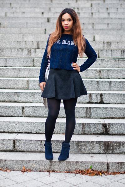 Zara skirt - Stradivarius boots - Zara top