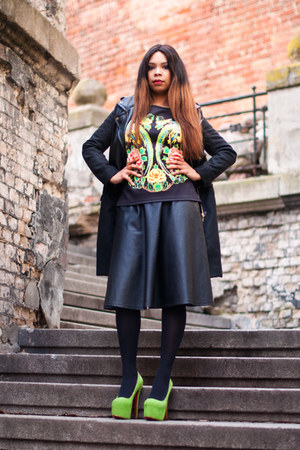 River Island skirt - Zara coat - Gatta stockings - Christian Louboutin pumps