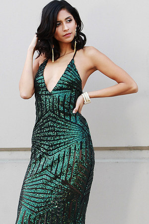 dark green UrbanOG dress