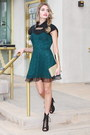Teal-urbanog-dress-black-urbanog-heels-black-urbanog-top
