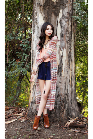 bohemian beat cardigan - shoes - native legacy shorts - amazon reign necklace