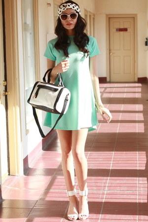 aquamarine UrbanOG dress - white UrbanOG hat - white UrbanOG bag