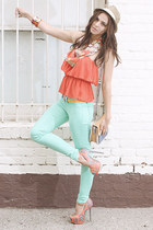 sahara heat hat - malibu dream jeans - louisa top - pumps - spring forward belt