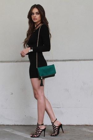 green UrbanOG purse - black UrbanOG heels