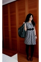 Camden Market dress - Morgan de Toi necklace - Primark tights - Benetton bag acc