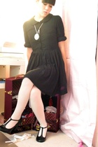 Erin Fetherston dress - Adore Vintage necklace - Forever21 tights - Hot Topic sh