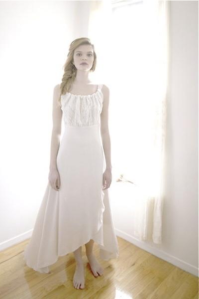 eggshell silk Uye Surana dress