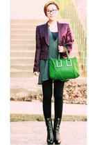silk maison martin margiela jacket - VA bag - Zara top