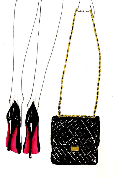 Chanel Bag Illustration Shoes Chanel Bag