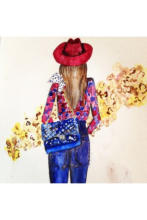 brick red watercolor vanessa datorre accessories