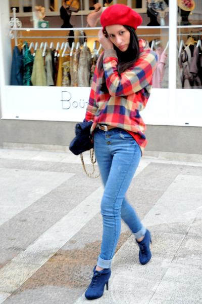 Sheinside jeans - Sheinside shirt - asos scarf - Prada bag