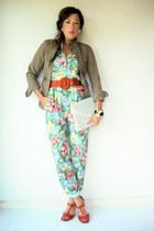 floral jumpsuit vintage jumper