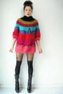 Platform-vintage-boots-suspender-topshop-tights-vintage-i-magnin-jumper