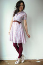Pink-vintage-dress-light-pink-slip-floral-vintage-dress-maroon-anthropologie