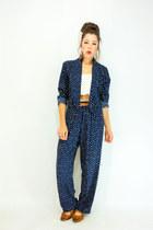 brown mary jane vintage flats - navy polka dot Viral Threads Vintage jacket