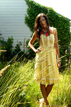 light yellow gingham vintage dress - fruits  veggies vintage from VIRAL THREADS