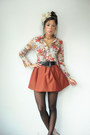 Tan-vintage-blouse-black-heart-asos-tights