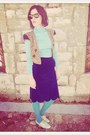 Aquamarine-cotton-virvin-jumper-navy-zara-vest-blue-virvin-skirt