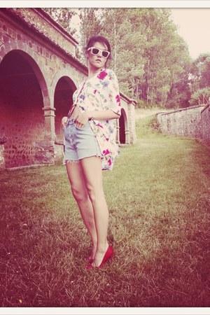 VIRVIN shirt - VIRVIN shorts - Zara heels