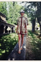 brick red vintage VIRVIN shirt - off white Primark accessories - tan H&M sandals