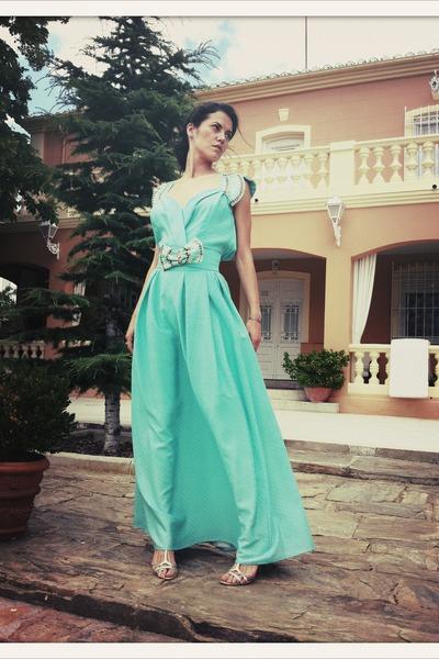 aquamarine vintage VIRVIN top - aquamarine vintage VIRVIN skirt