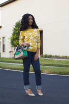 mustard stars Mossimo sweater - michael shannon shoes - MNG by Mango jeans