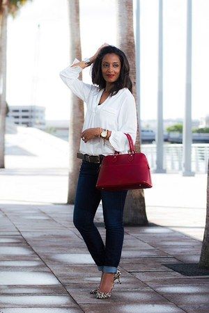 ivory H&M blouse - Zara pumps