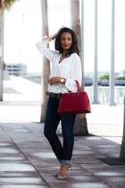 ivory H&M blouse - Zara pumps