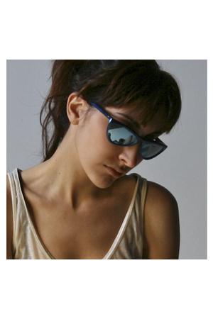 blue Issey Miyake sunglasses