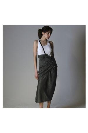 gray Yohji Yamamoto skirt
