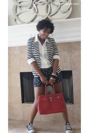 Mystique blazer - urbanoutfitters shirt - TJ Maxx romper - Converse sneakers