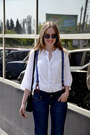 Navy-bershka-jeans-dark-brown-bershka-heels-white-incity-blouse