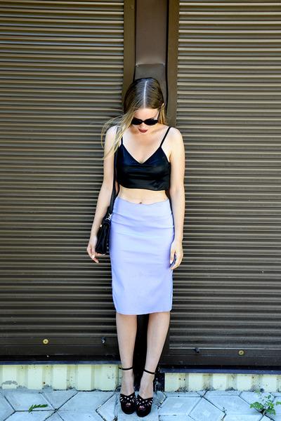 Jurgen Michaelsen top - Exbibit skirt - Iride heels