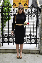 Zara top - Ebay sunglasses - Zara skirt - Zara heels