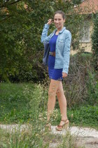 blue H&M dress - denim H&M shirt