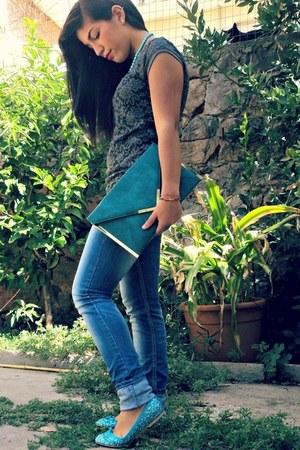 asos bag - no brand jeans - Terranova shirt - no brand flats