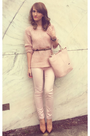 c&a sweater - Mango bag - c&a pants - poema heels