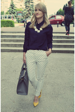 Zara shirt - H&M bag - Zara pants - poema heels