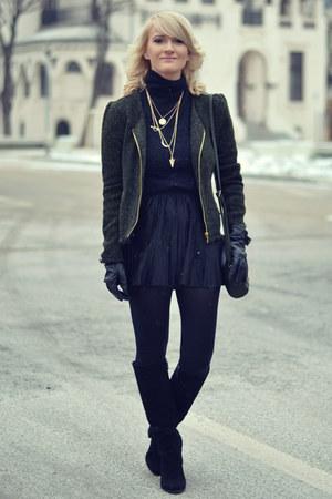 Bershka boots - BikBok jacket - Mango sweater - Stradivarius skirt