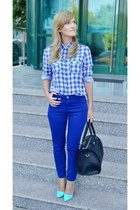 Bershka bag - H&M shirt - Bershka pants - Missguided heels