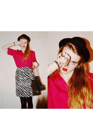 zebra valerie vintage skirt - hot pink valerie vintage top