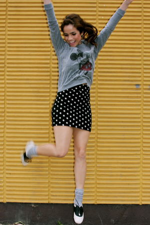 gray Urban Outfitters top - BGD shoes - Forever 21 skirt
