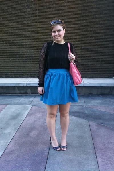 Black Alberta Ferretti Shirts, Blue Kimchi Blue Skirts, Blue ...