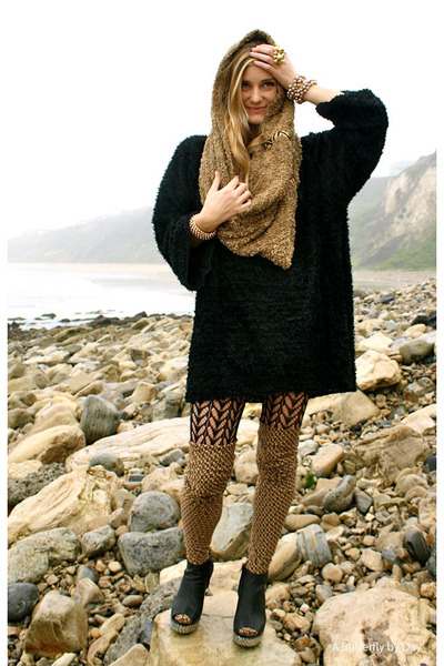 own design dress - tick bootie Jeffery Campbell boots - American Apparel tights